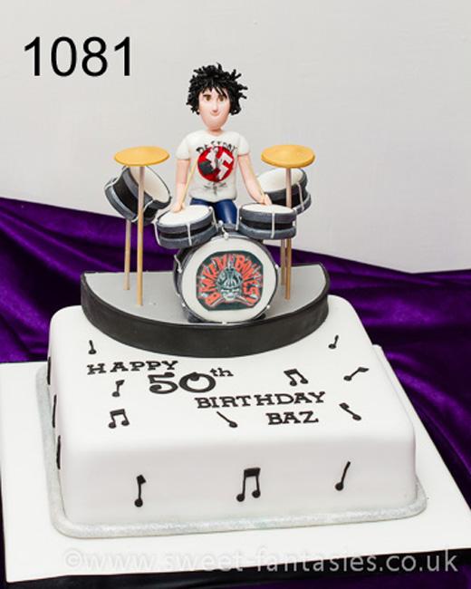 Drummer birthday cake - sweet fantasies