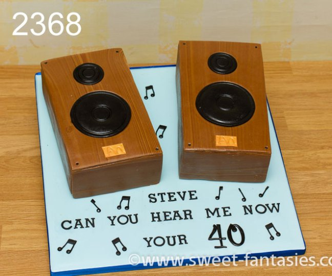 2 speakers music birthday cake - sweet fantasies