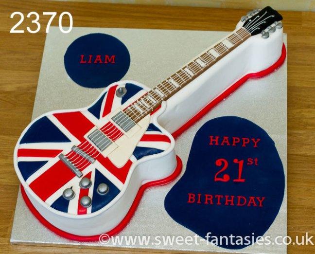 2D guitar birthday cake - sweet fantasies