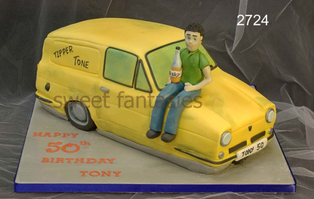 3D Trotters Reliant Robin (Regal) Van Birthday Cake