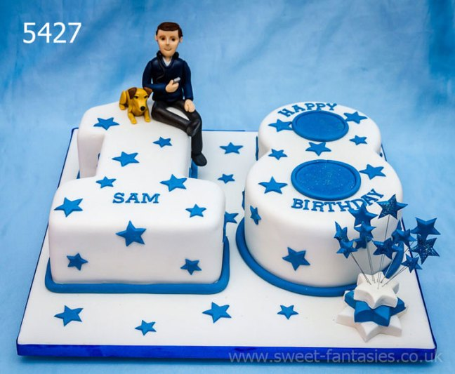 number 18 boys birthday cake