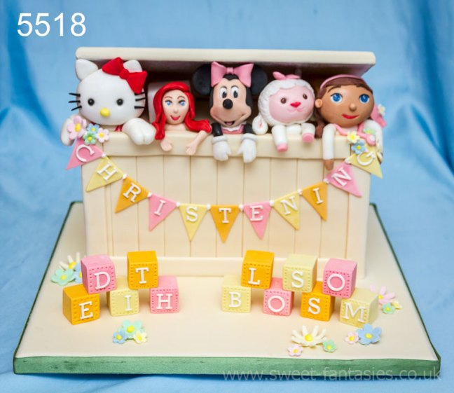 Toy Box - Cakes for Girls Christenings - sweetfantasies