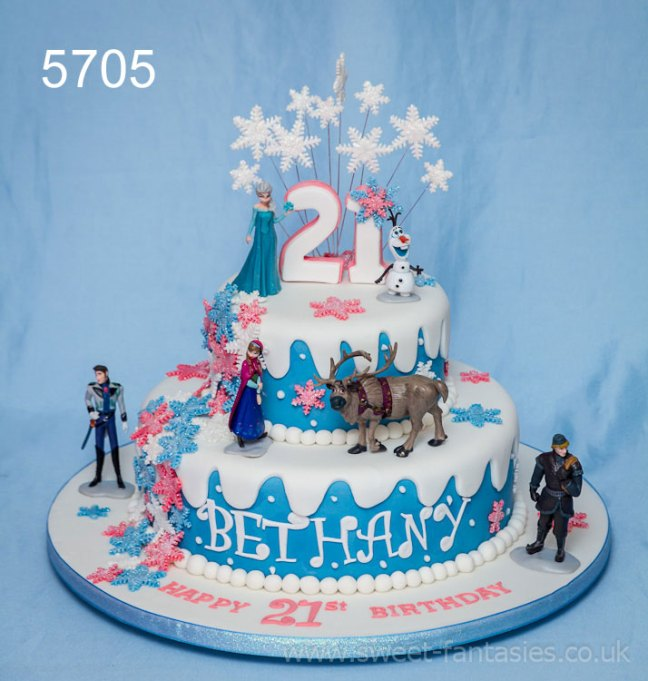 Disney Frozen - Girls 21st birthday cake