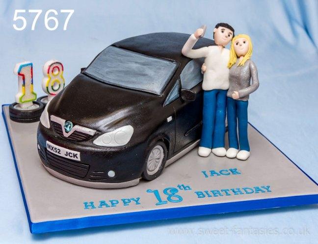 3D Car, Boys 18th Birthday Cake