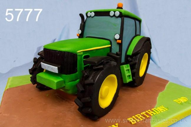 3D John Deere Tractor Birthday Cake