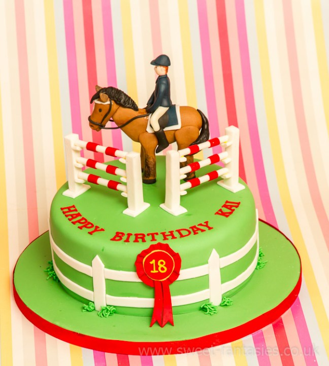 Horse Jumping 18th Birthday Cake