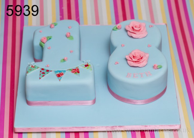 Number 18 - 3D Boot - girls 18th birthday cake