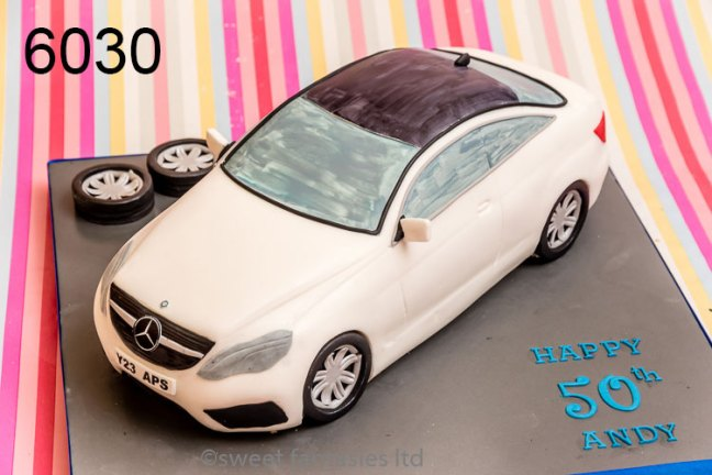 3D Mercedes Benz Car Birthday Cake