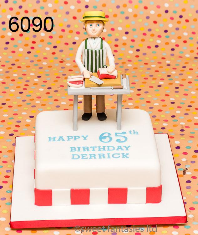 Butcher themed mans cake