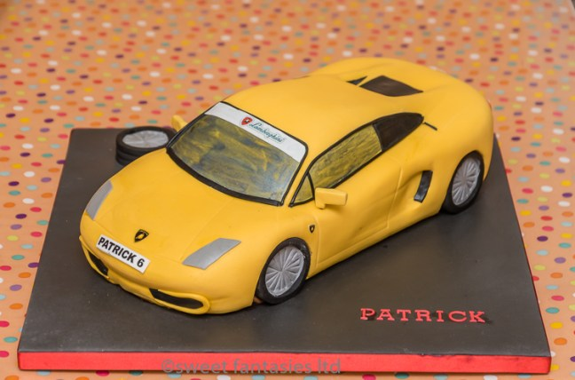 3D Lamborghini Car Birthday Cake