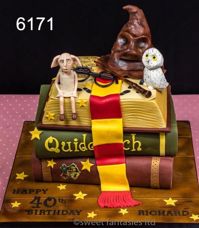 3 tier harry Potter themed cake