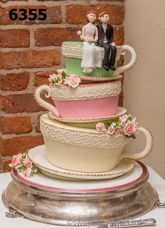 3 tier Cup & saucer wedding cake