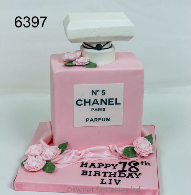 Chanel Bottle - girls 18th birthday cake