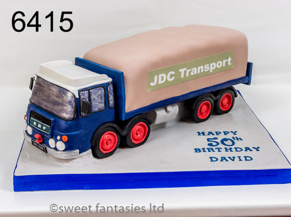 3D Vintage Lorry Birthday Cake