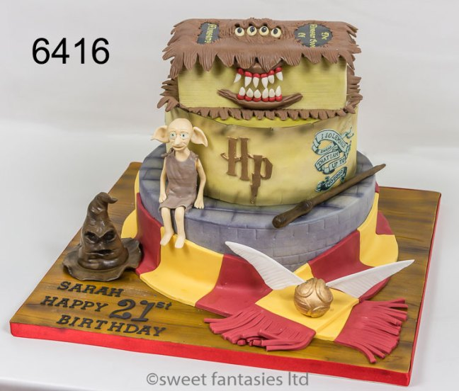Girls 21st,3 tier harry potter theme cake