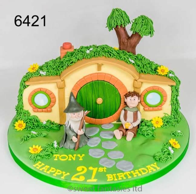 3D Hobbit House 21st birthday cake