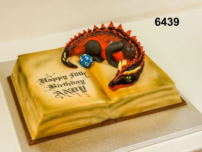 3D book with dragoon, 40th cake