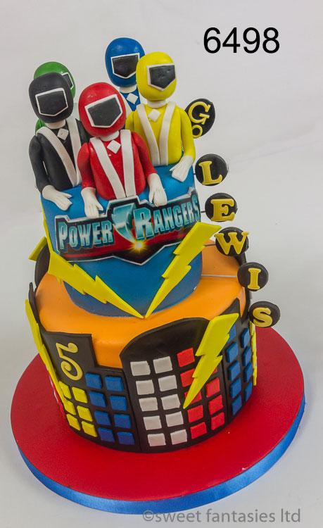 Power Rangers Boys Birthday Cake