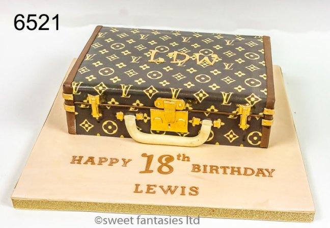 3D Louis Vuitton case, Boys 18th Birthday Cake