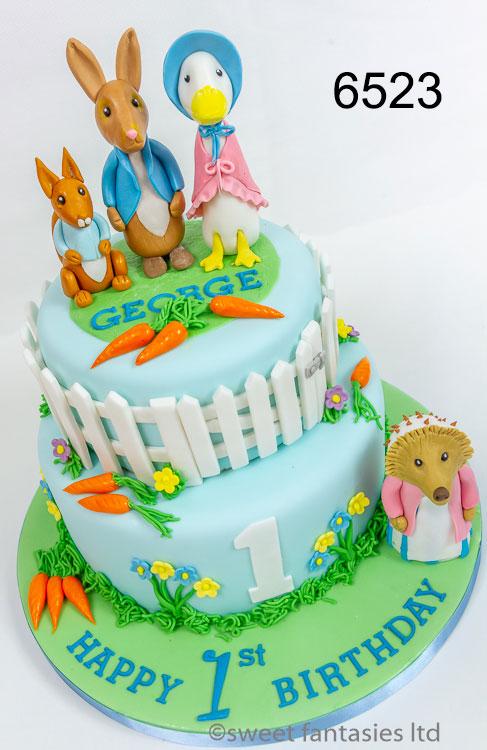 Peter Rabbit & Friends Birthday Cake