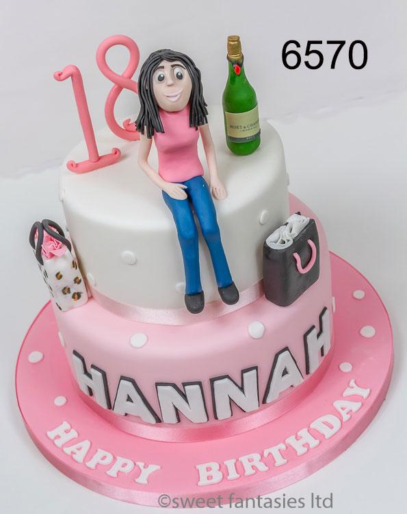 2 Tier - girls 18th birthday cake