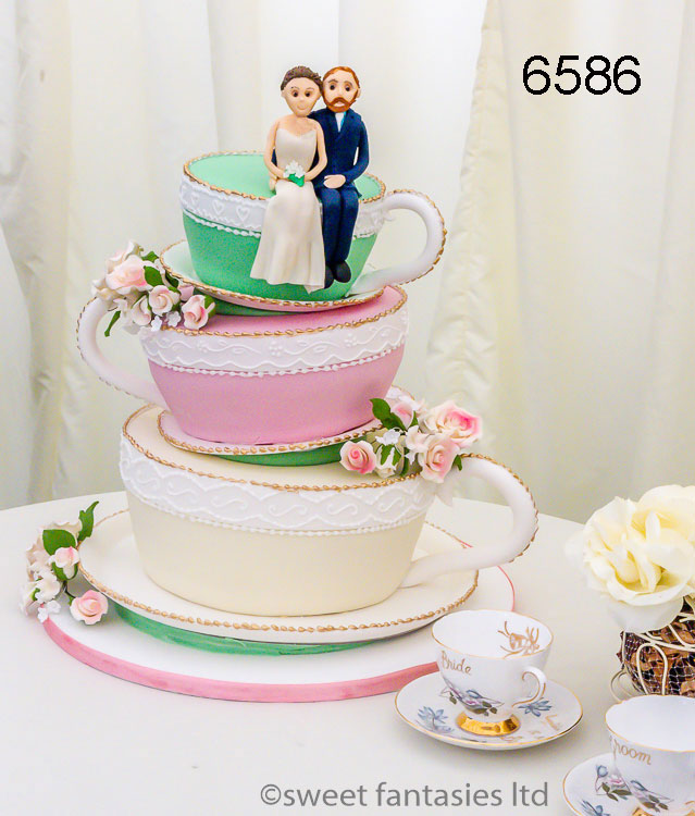 3 tier Cup & saucer wedding cake