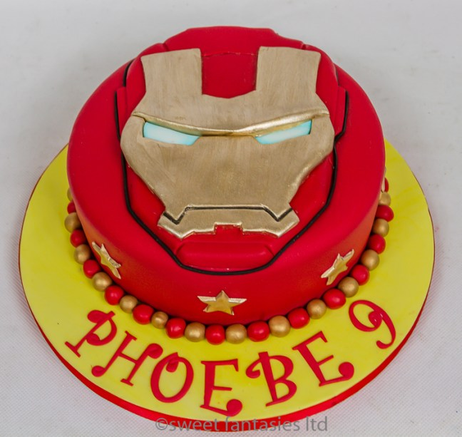 Ironmans Face, 9th Birthday Cake