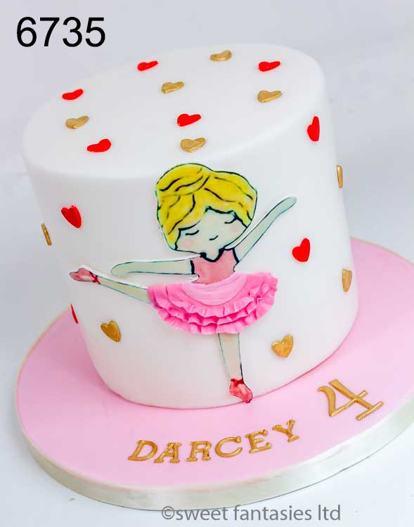 girls birthday cake for a ballet dancer