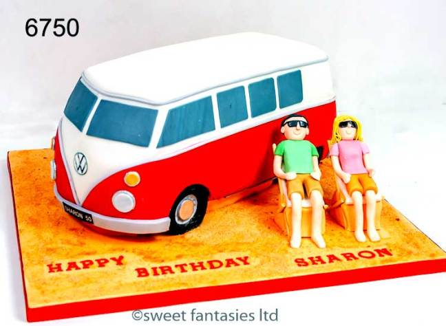 3D VW Camper Van Birthday Cake