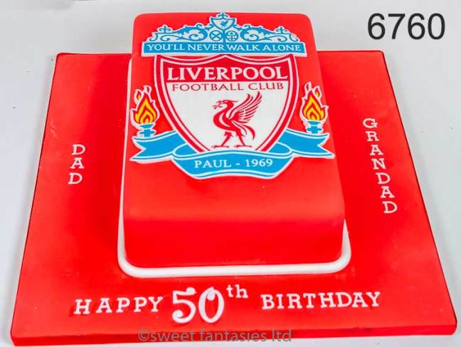 Football Club Badge 50th Birthday Cake