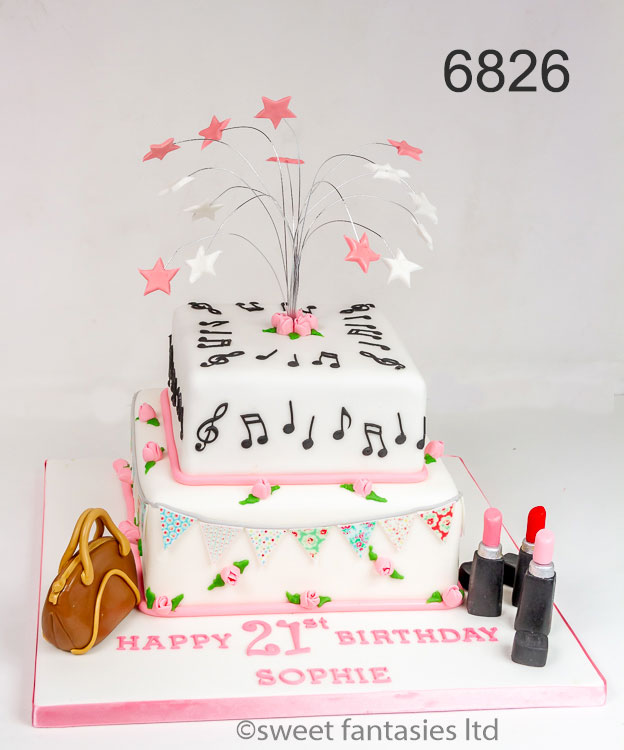 2Tier girls 21st birthday cake