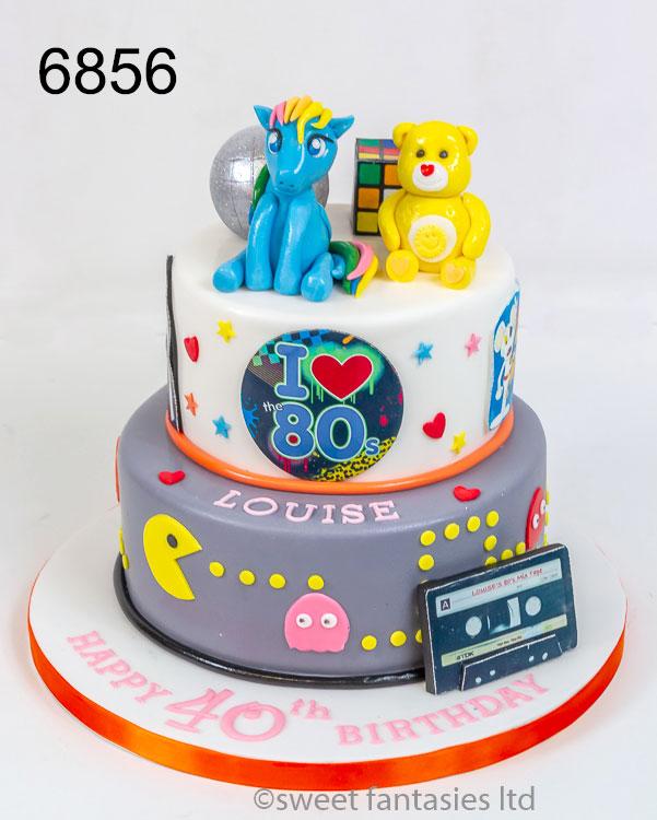 I love the 80's themed birthday cake