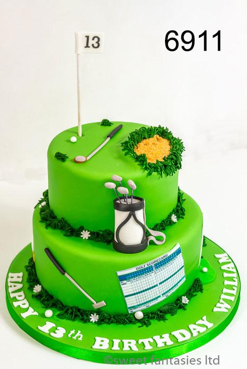 Boys Birthday Cake, Golfing Theme