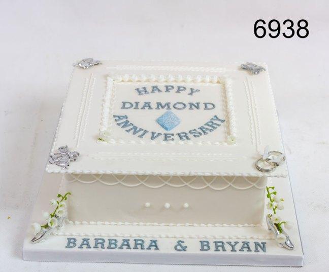 Royal Icing Diamond Anniversary Cake