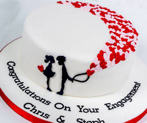 Engagement cakes by sweet fantasies
