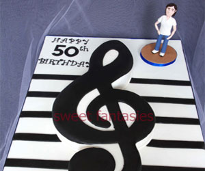 Musical Themed Birthday Cakes