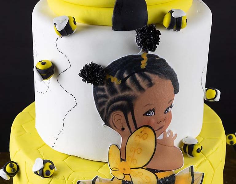 Bab-Bee Shower Cake
