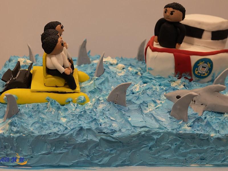 Boy in Paddle Boat Cake