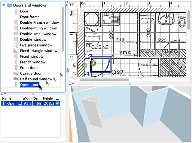 Adding furniture to home plan