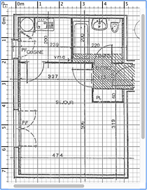 Background image in plan pane