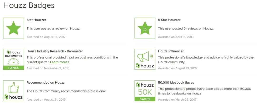 houzz badges houston designer