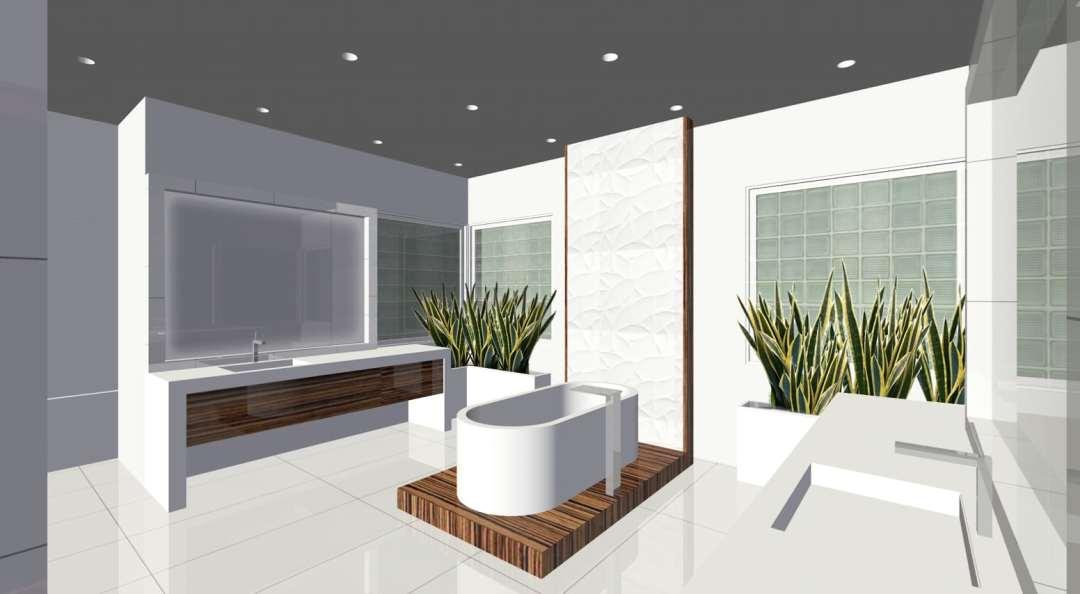 3D Concept | Memorial Modern Master Bath Remodel | Houston, TX | 2015