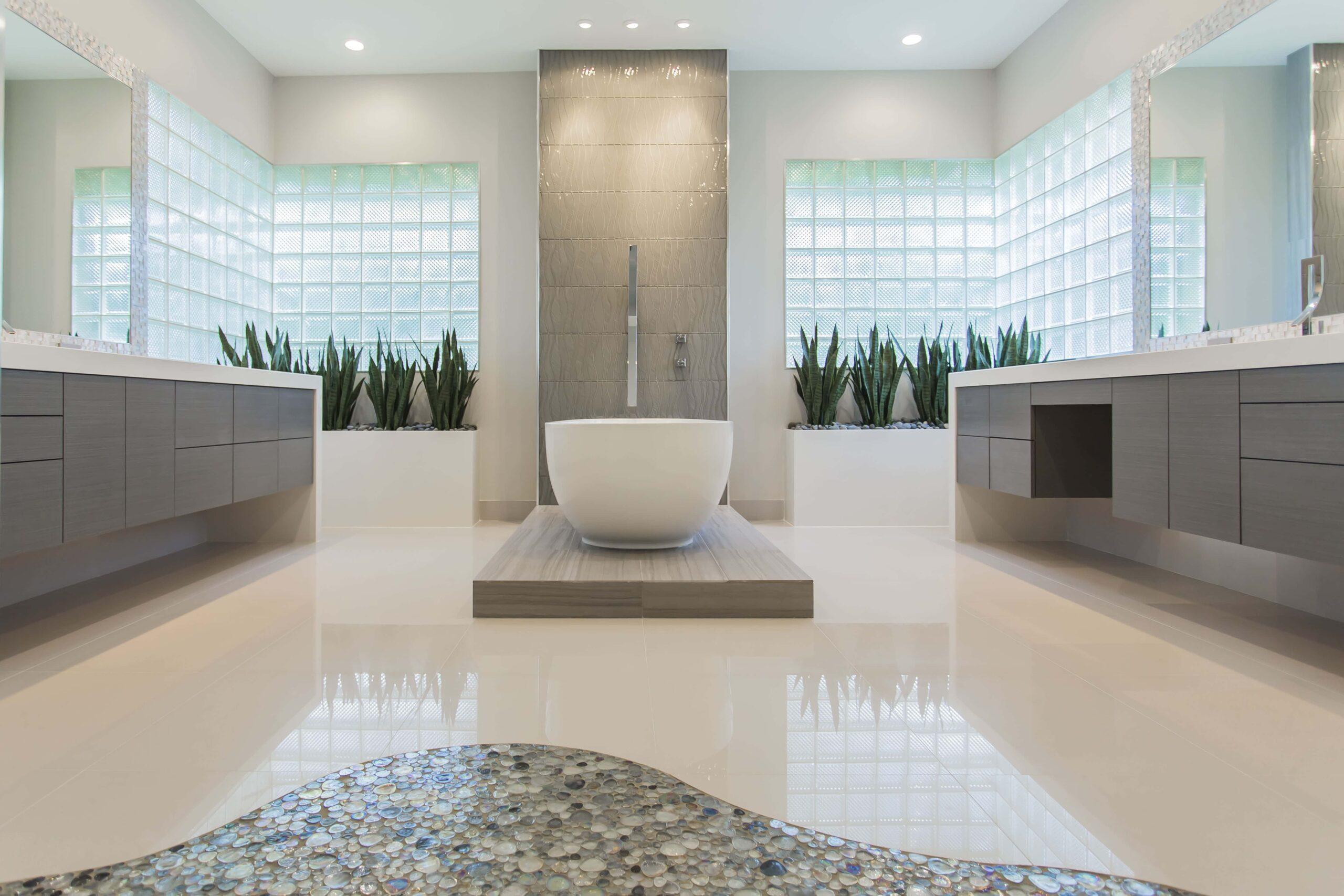 Memorial Modern Master Bath Remodel   Houston, TX   2015