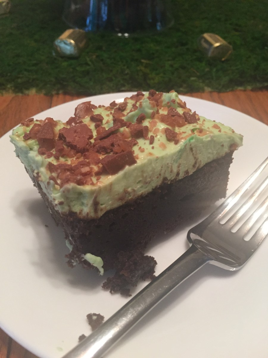 St. Patrick's Day Irish Creme Brownies