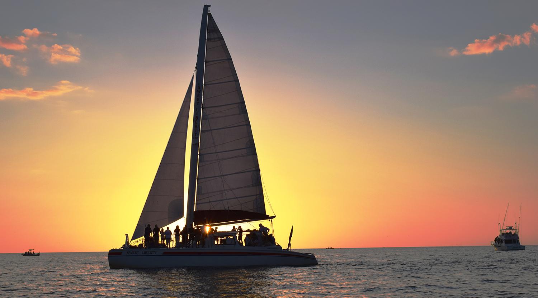 Our Cruises Sweet Liberty Catamaran Sailing Amp Boat Tours