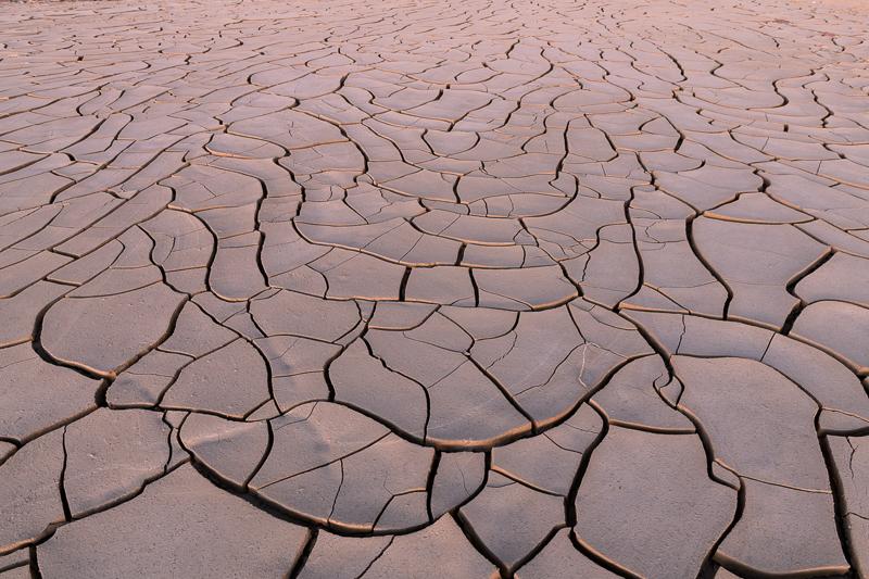 Mud flats representing a geometric jigsaw puzzle.