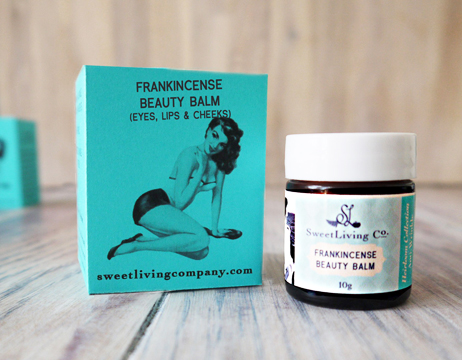 Paleo Frankincense Beauty Balm - Intensive Anti-Wrinkle Super Concentrate. By Sweet Living Co. Handmade in Canada.