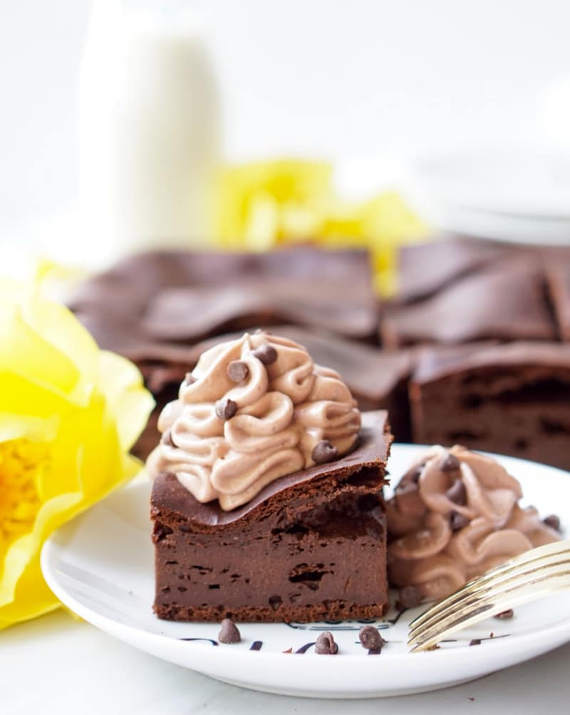 The Healthy Chocolate Pudding Cake is high-protein and low-calorie, yet all-natural (no protein powders, processed ingredients, additives, etc), super-easy to make and delicious paired with the Fat-Free Extra-Decadent and Super-Healthy Chocolate Mousse!