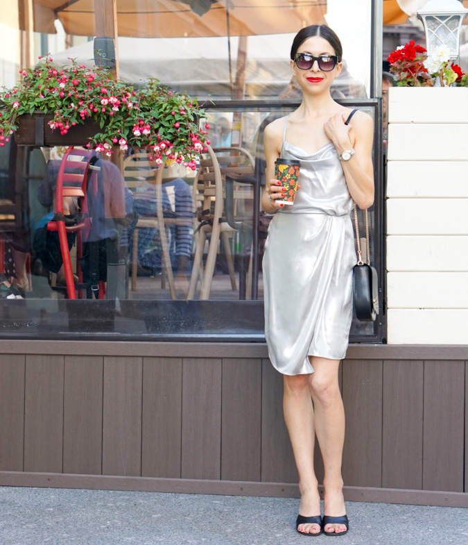 This versatile Silver Mini Dress can be worn to a party, to an office, paired with a classic blazer and pumps, or a walk around town!