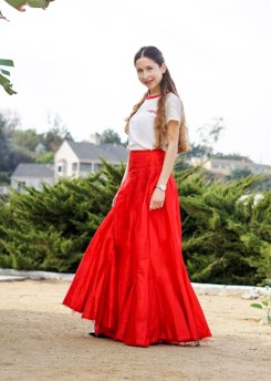 Red Maxi Skirt-47